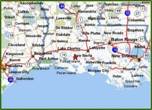Map Of South Louisiana  My blog